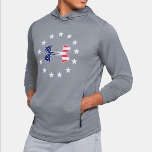 NWT Under Armour Freedom Rival Fitted Hoodie